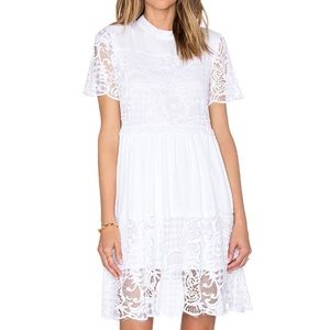 Kendall + Kylie White Lace Dress